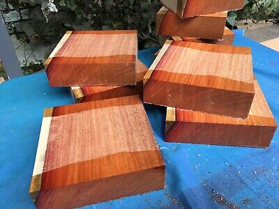 "Pau Rosa Bowl Blanks Woodturning/Exotic Wood 7x7x2"" Exotic Hardwoods/ Kiln Dried"