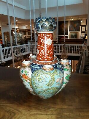 Rare Antique Japanese Imari Porcelain Vase Chinese  Form