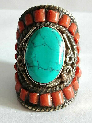 Extremely Rare Medieval Silver Massive Huge Ring Rare Stones
