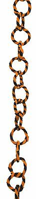 Primitives by Kathy Orange and Black Chenille Vintage Style Chain Garland
