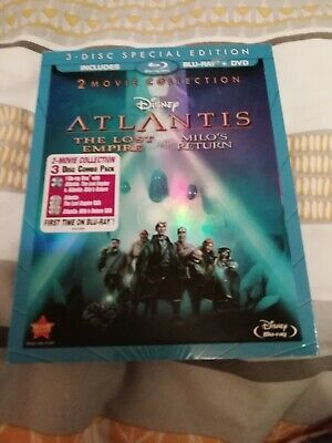 disney atlantis 2 movie collection blu ray + dvd with slipcover new & sealed