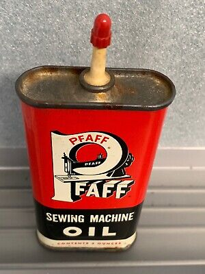 Collectible Antique Pfaff Sewing Machine Oil Can 3 Oz. Handy Oiler Tin