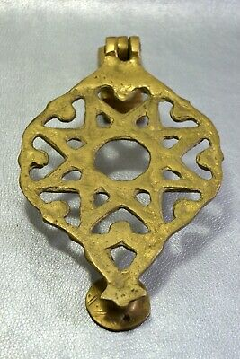 Vintage Bronze Moroccan Door knocker Bell knob handle Eight pointed star