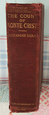 Antique Vintage Book Count Of Monte Crisco By Alexandre Dumar Old Shabby Chic