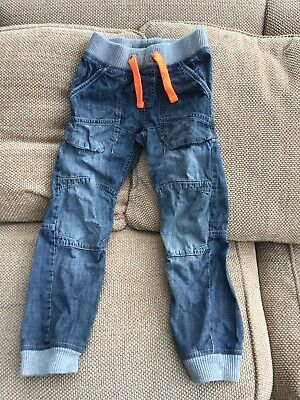 Next Boys Cargo Jeans Size 9-10 Years Hardly Worn In Mint Condition