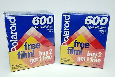 NEW 6 Pack Polaroid 600 High Definition Instant Film 60 Exposures EXP 12/1996