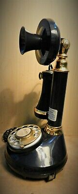 CANDLESTICK TELEPHONE Western Electric Rotary Phone, American Telecommu Vintage!
