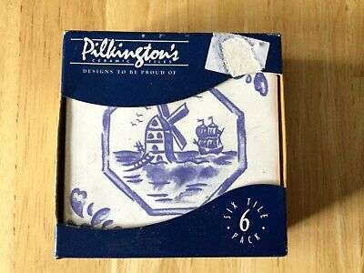 "Pilkington Tiles 6 Windmill Design 4"" x 4"" in Original Packaging"