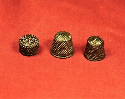 Lot of 3 Medieval Bronze Thimble - 14. Century