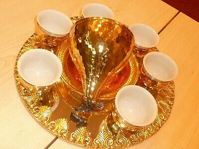 Handmade Turkish Coffee Cup Saucer Set Turkish gold or silver COPPER