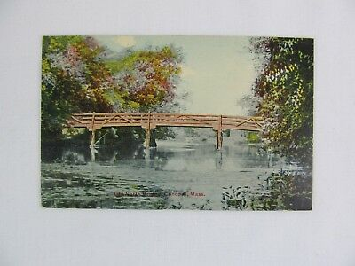 Vintage Postcard Old North Bridge Concord Mass River Park