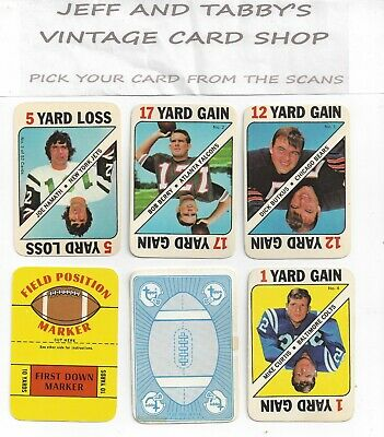 1971 Topps Football Game Insert You Pick From Scans # 1 To # 52