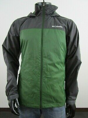 NWT Mens M Columbia Glennaker Lake Lined Hooded Waterproof Jacket Impulse Green