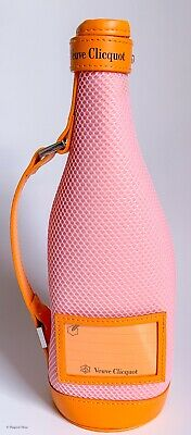 Veuve Clicquot Brut Rose Pink Champagne Insulated Ice Jacket Case With Gift Tag