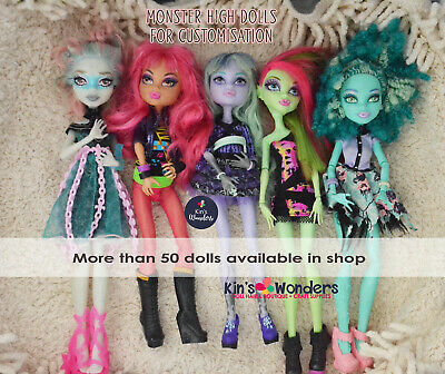 Monster High Doll Body, Nude Custom OOAK Repaint Re-root, Art Supplies Customise