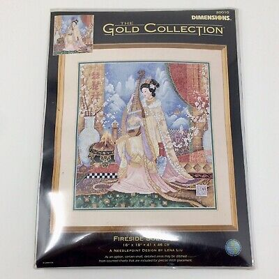 Dimensions Gold Collection FIRESIDE SOLITUDE Needlepoint Pattern Kit #20010 NEW