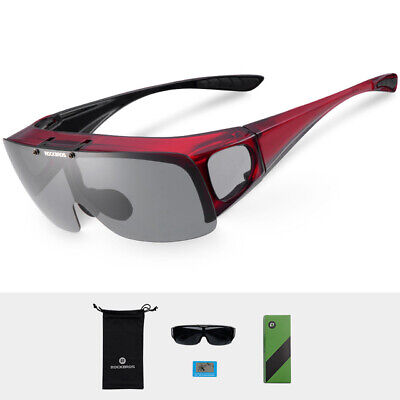 ROCKBROS Cycling Sunglasses Polarised Anti-UV Outdoor Sports Goggles Red New