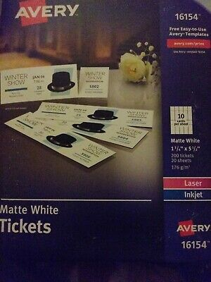 photograph relating to Printable Tickets With Tear Away Stubs titled AVERY TICKETS WITH Tear-Absent Stubs 1.75\