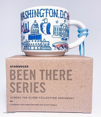 Starbucks Washington DC Ornament Been There Demitasse Espresso Cup Gift Box