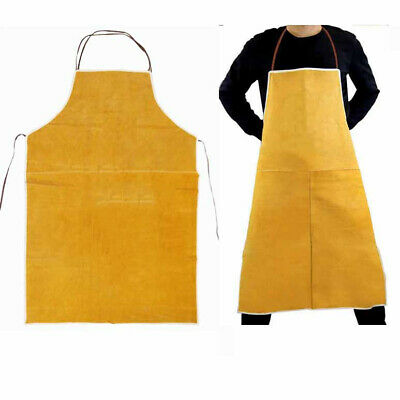 Cow Leather Welder Protective Aprons Welding Heat Insulation Apron Blacksmith #P