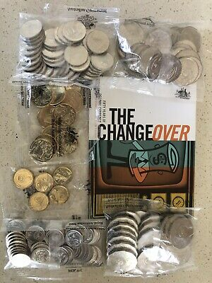 2016 Changeover UNC 50 Years Of Decomal Currency $2 $1 50c 20c 10c 5c RAM Bags