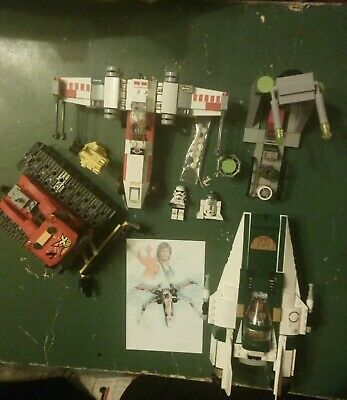 Lego star wars. X-wing,trench run . Canon a neige. 2 Plans de montage. Lot LSWO.