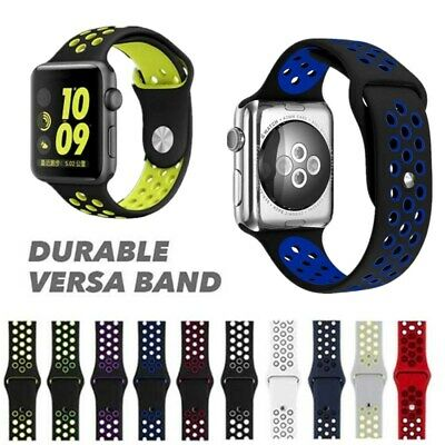 Silicone Replacement Watch Band Strap For Apple iWatch Nike+Series 4 Sports 44mm