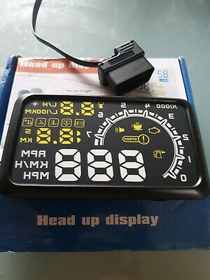 Car Head Up Display OBD2 II HUD Dash Screen Projector Speedometer Speed Warning