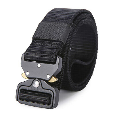 Mens Nylon Tactical Belts Heavy EDC Duty Military Quick Release Buckles Work