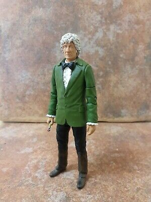 3rd Doctor Time Warrior Figure Green Jacket