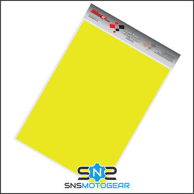 Motorcycle Motorbike Petrol Tank Cut Your Own Protector Sheet 45x33cm - Yellow