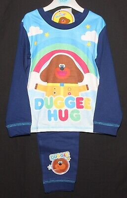 "Boys HEY DUGGEE Pyjamas ""DUGGEE HUG"" Blue Cotton PJs NWT Sizes 18 months-5 years"