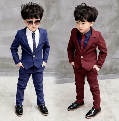 3 Piece Kids Boys Suit Page Boy Prom Suits Wedding Formal Party Suits Outfits