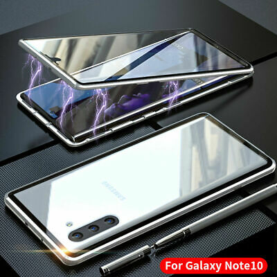 For Samsung Galaxy Note 10 Plus Magnetic Absorption Tempered Glass Case Cover
