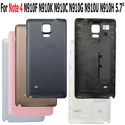 "5.7"" For Samsung Galaxy Note 4 N910 Glass Rear Back Door Housing Battery Cover"