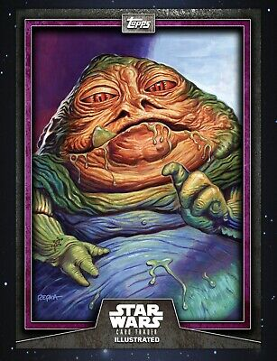 Topps Star Wars Card Trader Illustrated 2019 Purple CTI Jabba Hutt 125cc