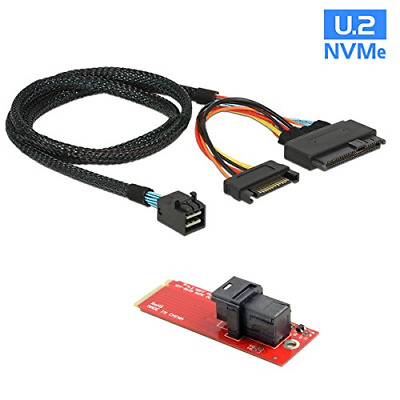 CY U.2 U2 Kit SFF-8639 NVME PCIe SSD Adapter & Cable for Mainboard Intel SSD 750