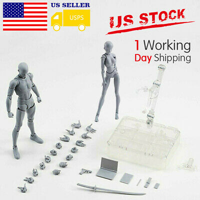 Drawing Figures For Artists Action Figure Model Human Mannequin Woman Man USPS