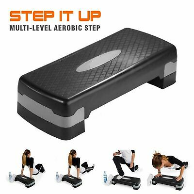 Aerobic Exercise Step Stepper Fitness Bench Workout Gym Cardio 2 Level Risers AU