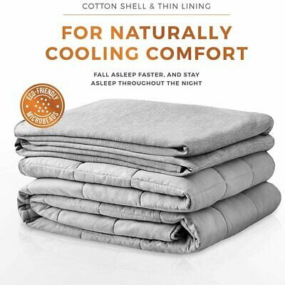 Soft Cool Weighted Blanket 48''x72'' 20lb for Adults Reduce Stress Full Size Bed