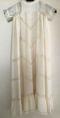 Antique Vintage Christening Silk Baby Dress and Silk Petticoat (1)
