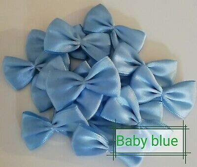 Handmade satin craft bow embellishments wedding crafts pack of 20 bows