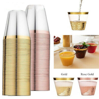 Wedding Supplies Birthday Party Disposable Plastic Cups Tableware Transparent