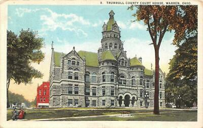 WARREN, OH Ohio  TRUMBULL COUNTY COURT HOUSE  Courthouse  c1920's Postcard