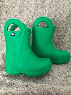 CROCS GREEN Lightweight WELLINGTON BOOTS WINTER SIZE UK 8C (1)