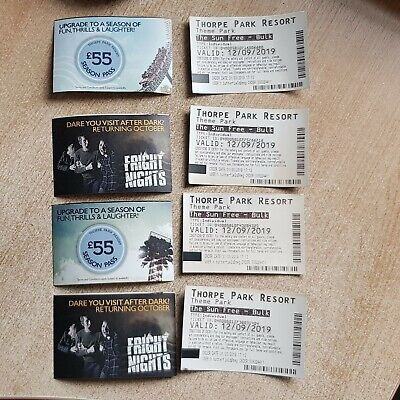 Thorpe park tickets x 8 for 12 September 2019