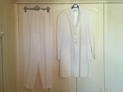 Bride/Mother of the Bride ivory 2 piece trouser suit  size 14 by Derrico