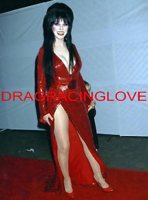 "Cassandra Peterson ""Elvira"" ""Mistress of the Dark in RED"" ""Pin-Up"" PHOTO! #(33)"