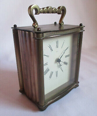 Vintage Stylish Smiths Brass Carriage Clock 1940s / 50s Working
