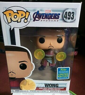 Funko Pop Marvel Avengers Endgame 493 Wong SDCC 2019 limited edition